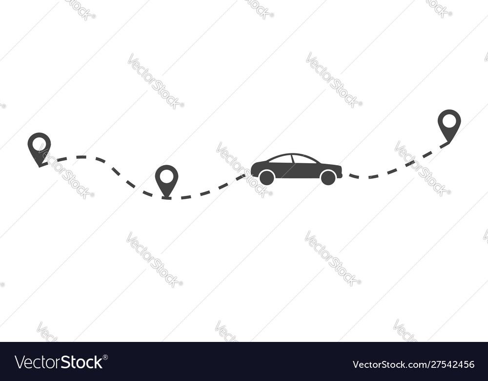 Flat car route monochrome concept