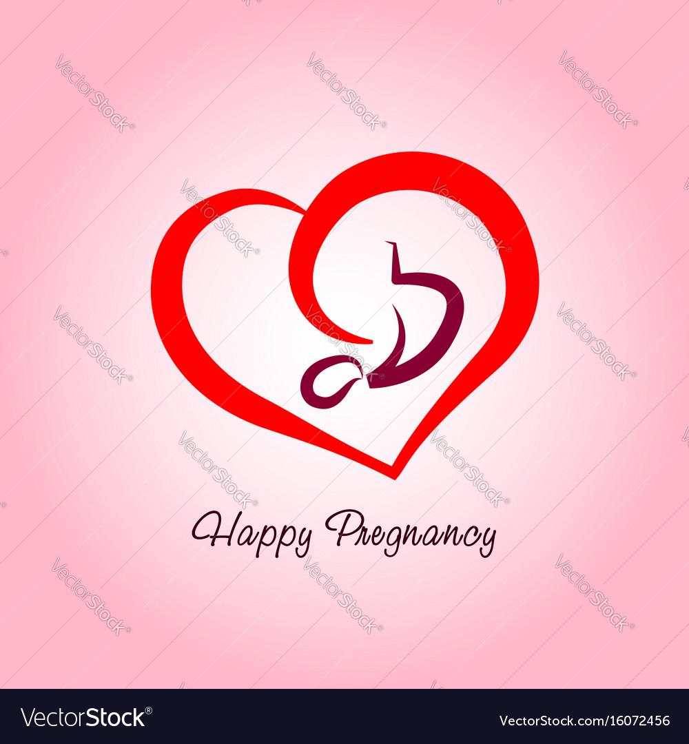 Happy pregnancy logo