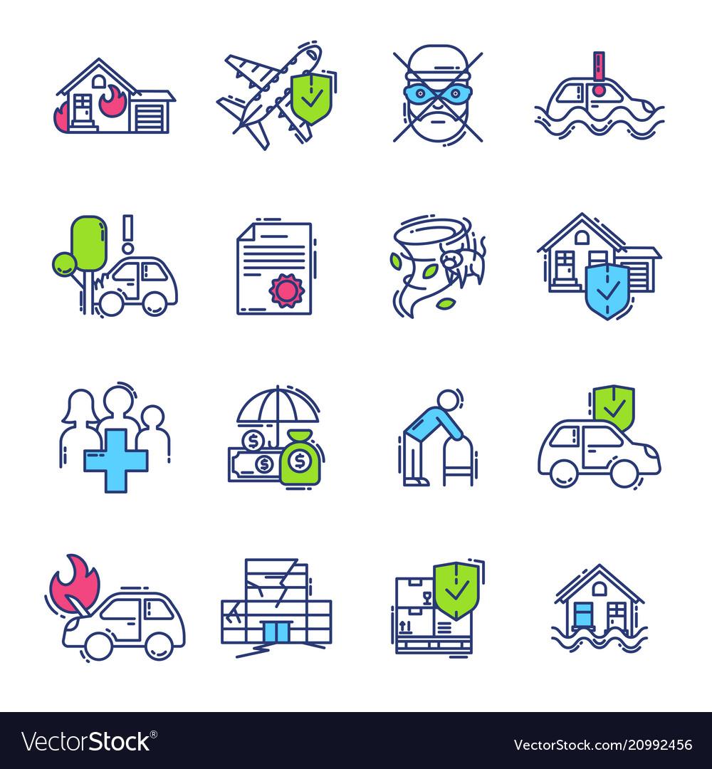 Insurance icon life or health ensurance