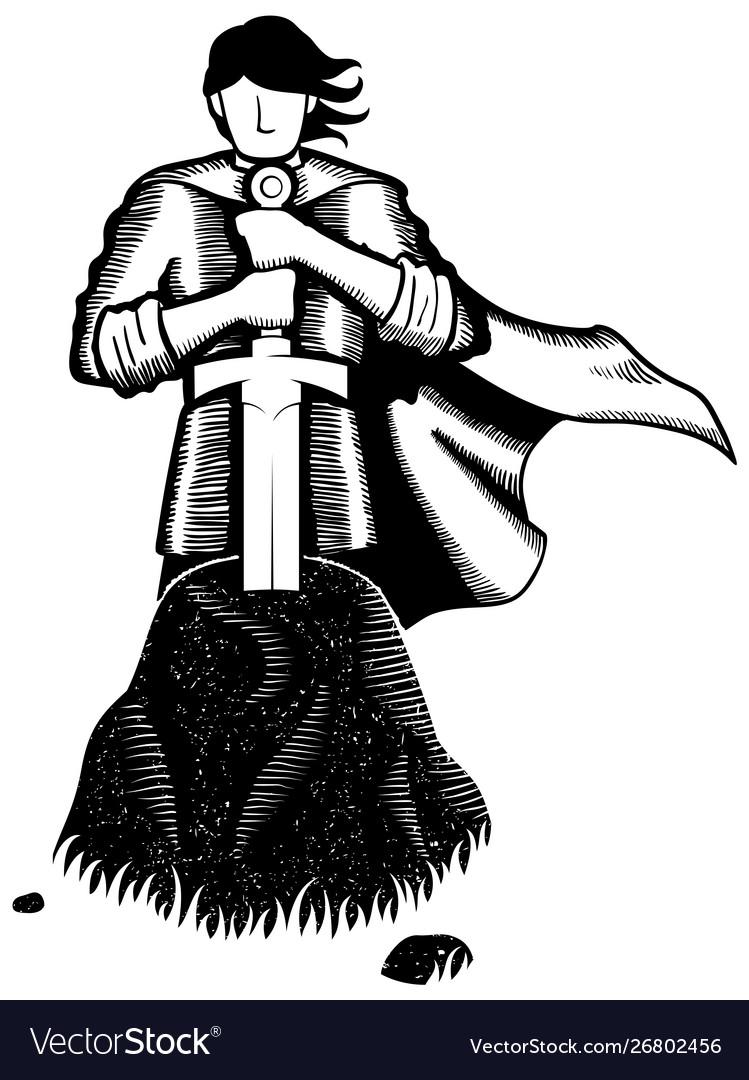 King arthur line art