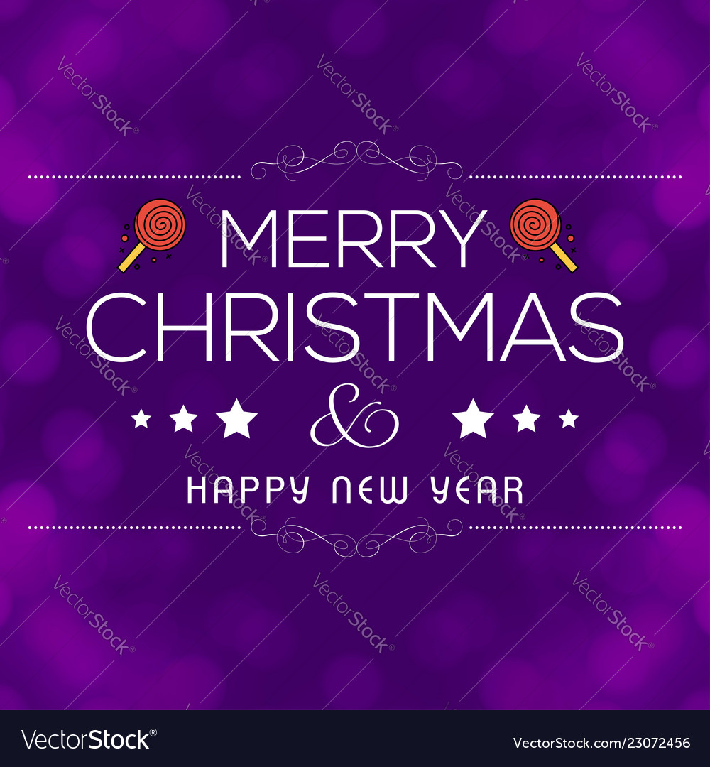 Merry christmas card with creative design and