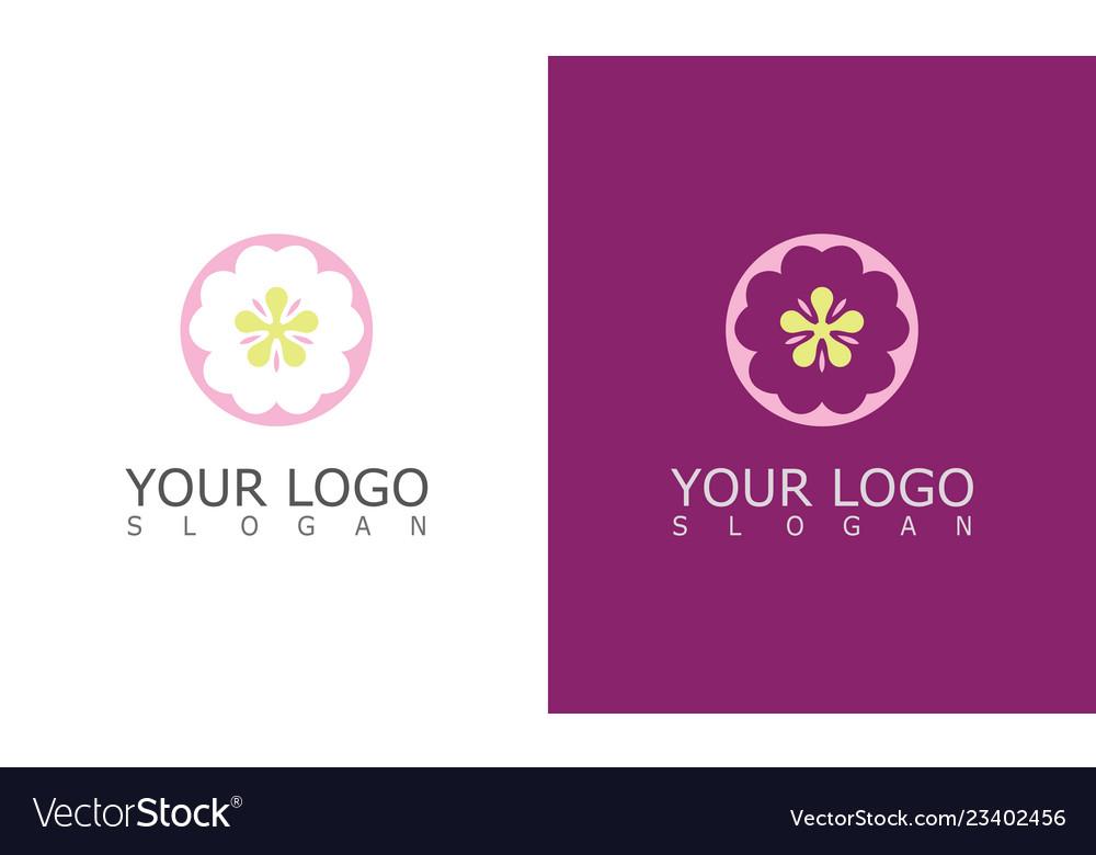 Round flower beauty logo