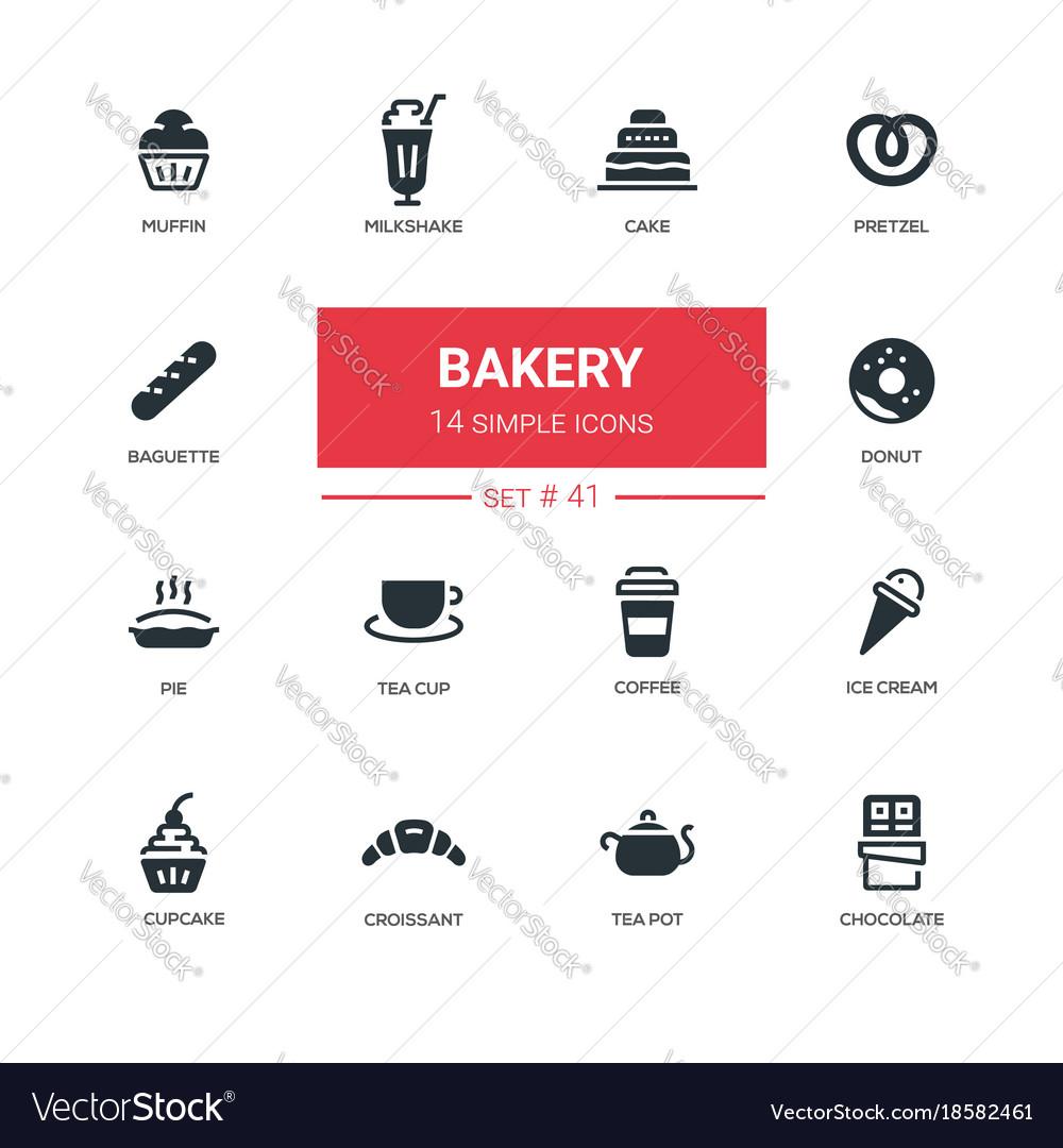 Bakery concept - line design icons set