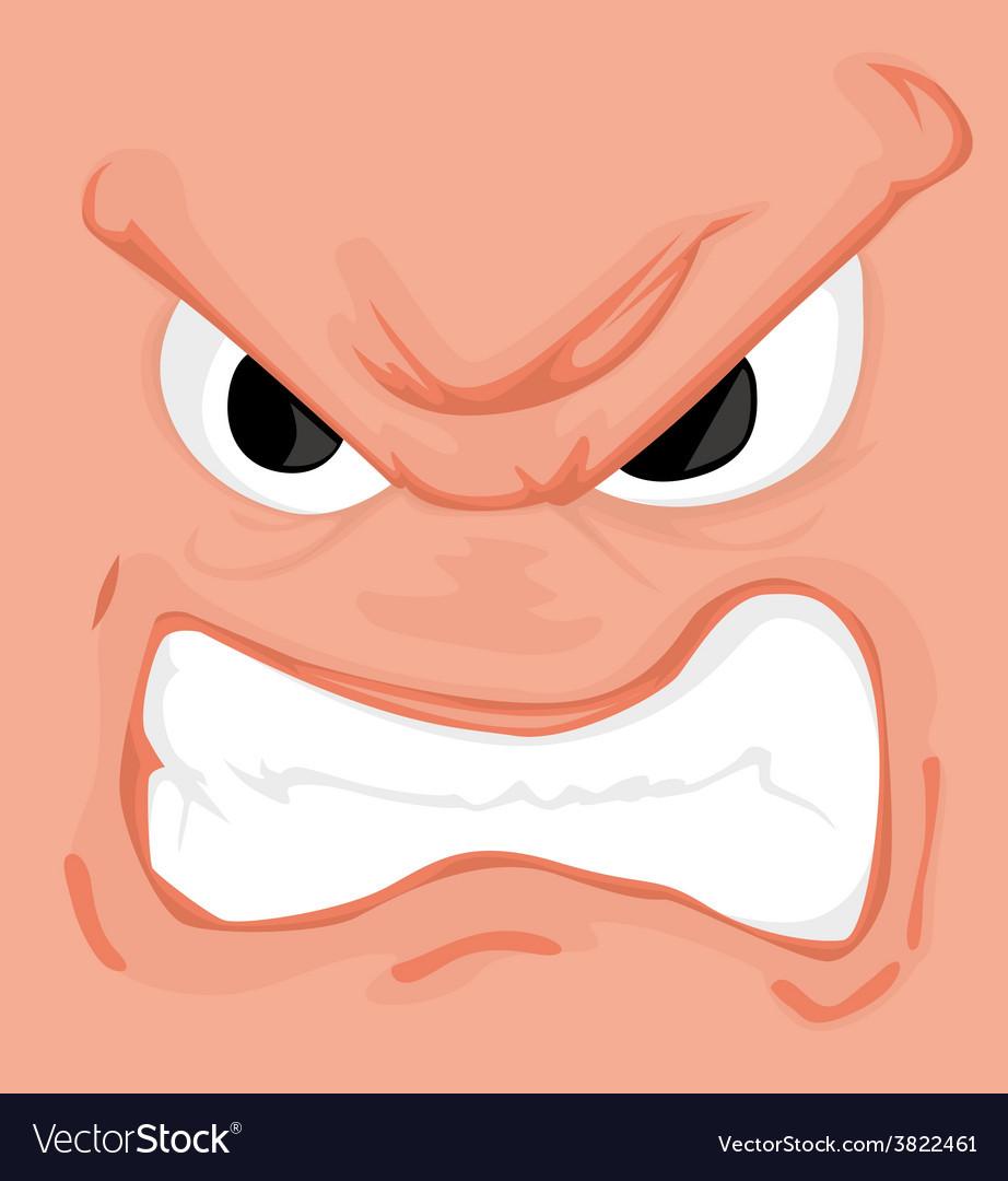 Cartoon comics face vector image