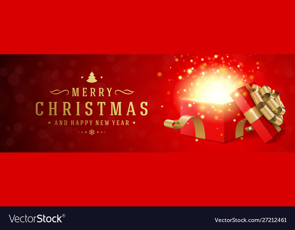 Christmas banner horizontal design template