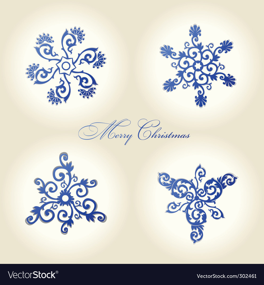 Christmas snowflakes vintage decor