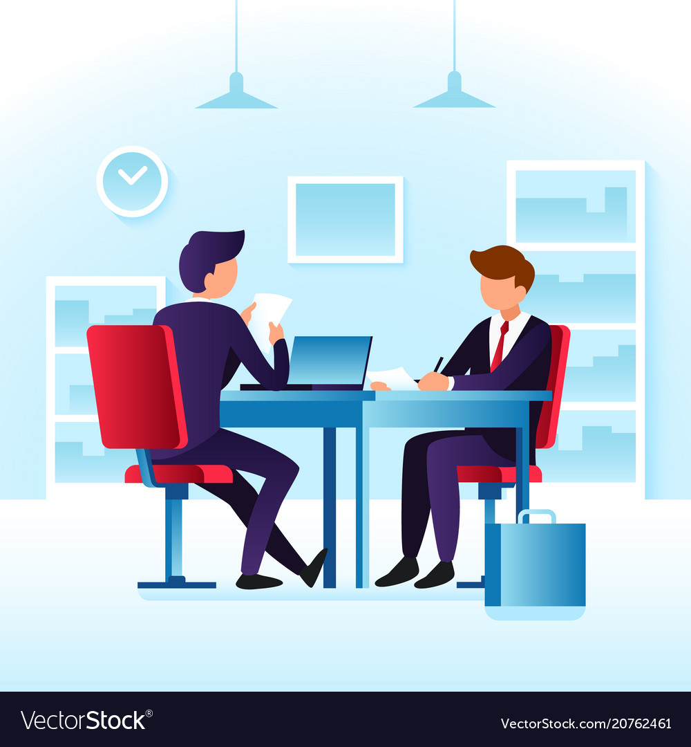 Contender work employees and job interview