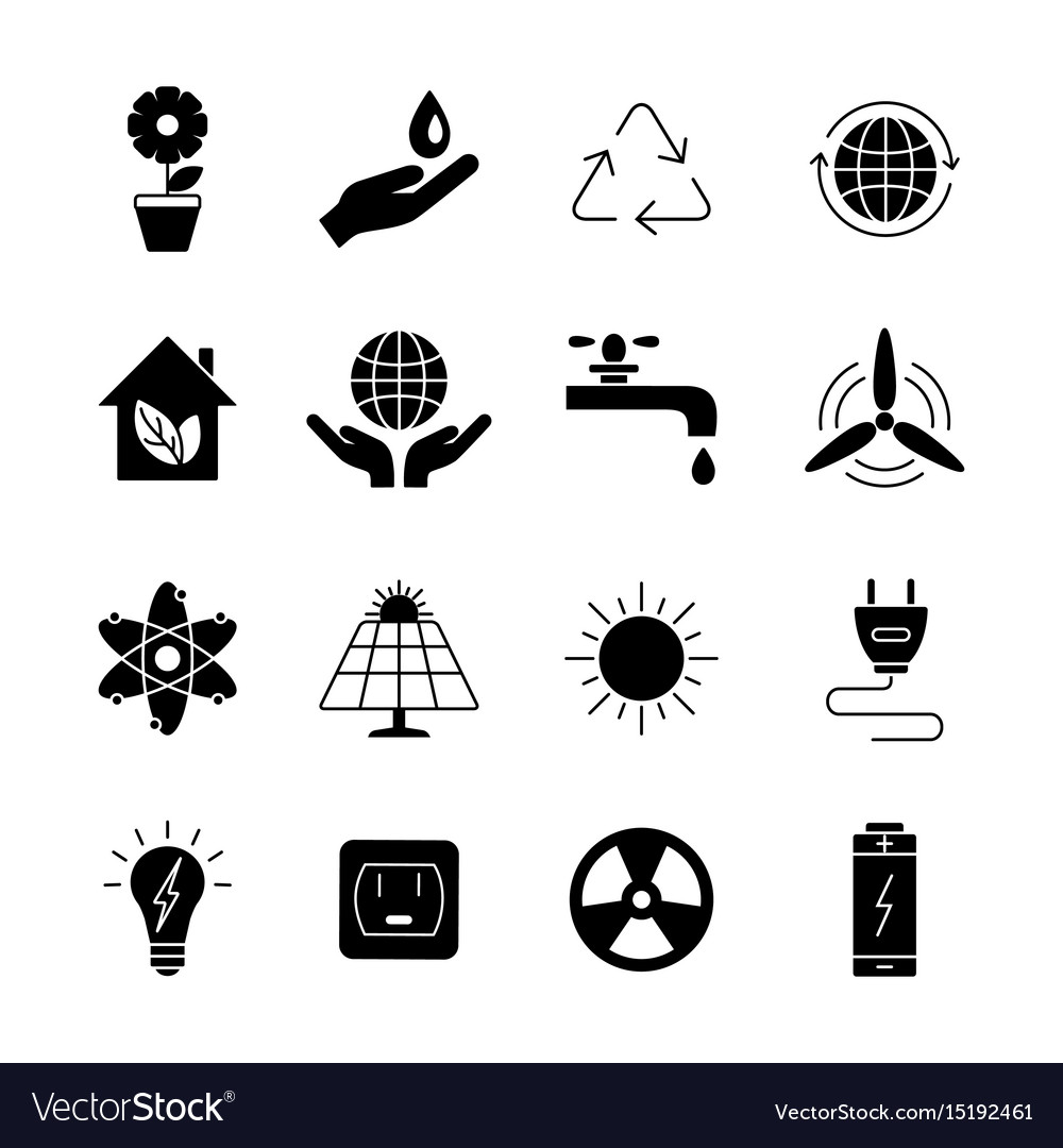Ecology and energy icons universal icon to