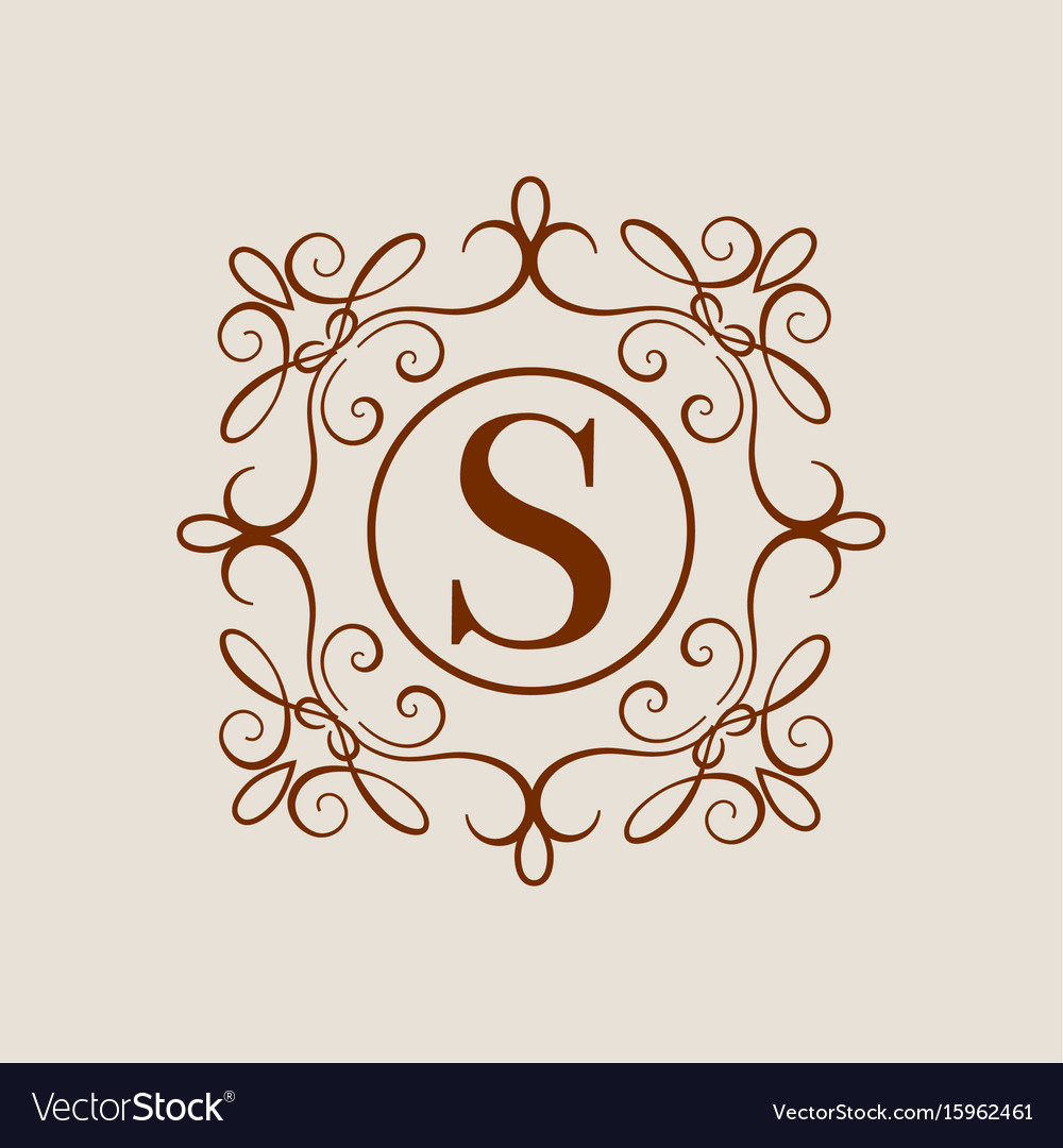 Elegant monogram design template wedding monogram vector image