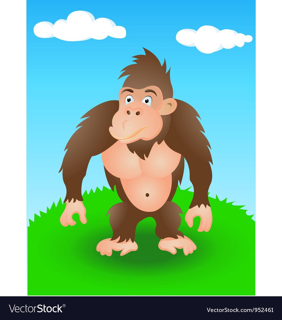 Gorilla in the wild vector image