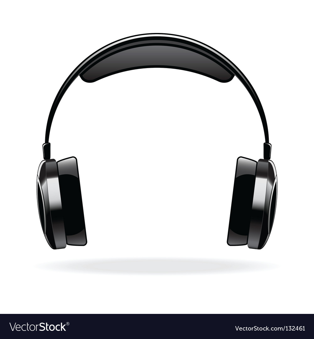 headphones royalty free vector image vectorstock rh vectorstock com headphones vector art headphones vector graphic
