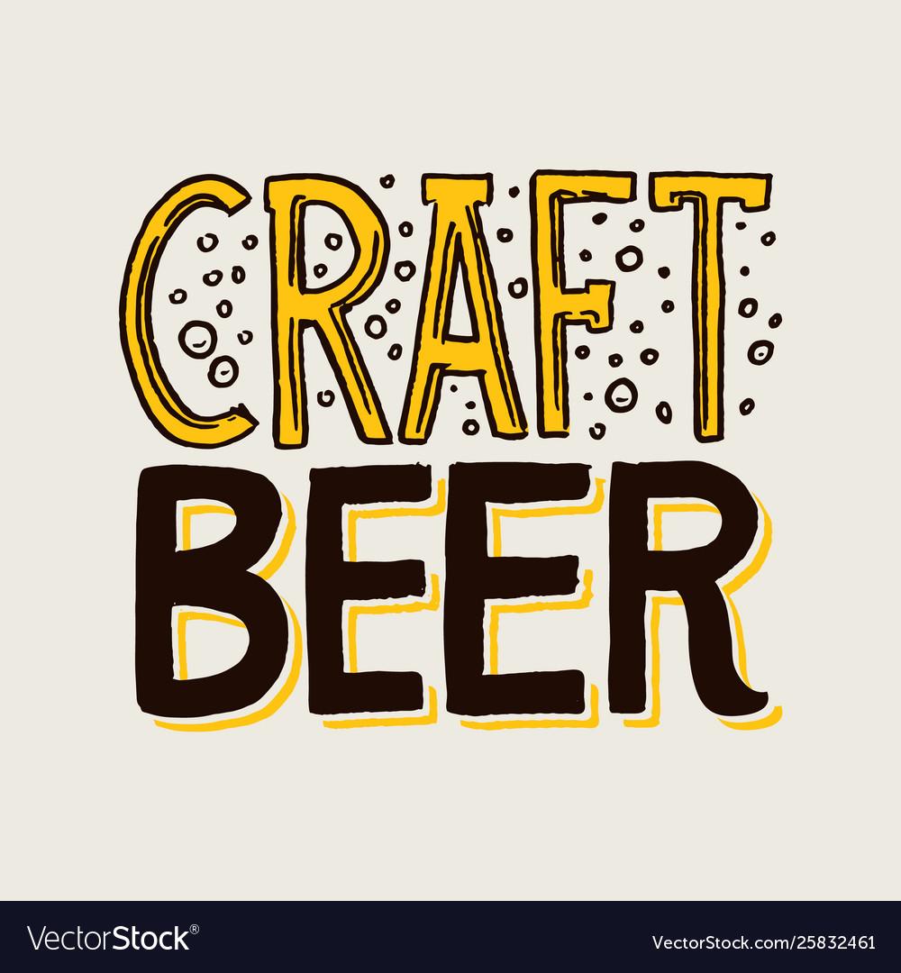 Label craft beer template emblem or logo