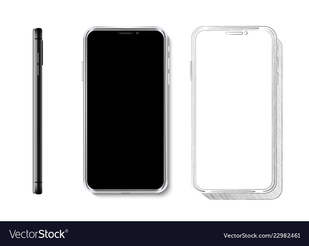 Realistic smartphone mock up 3d design