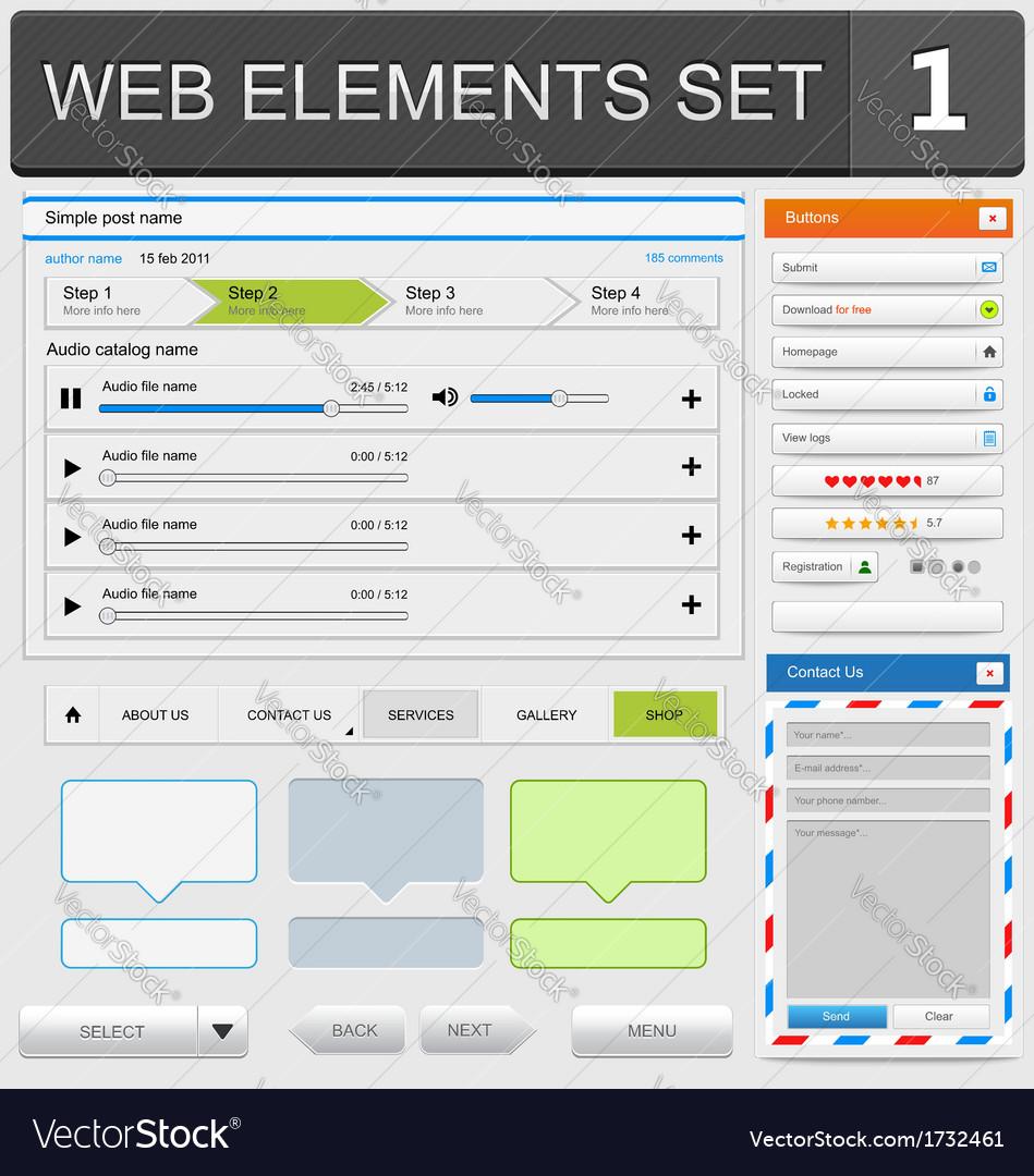 Web elements set1