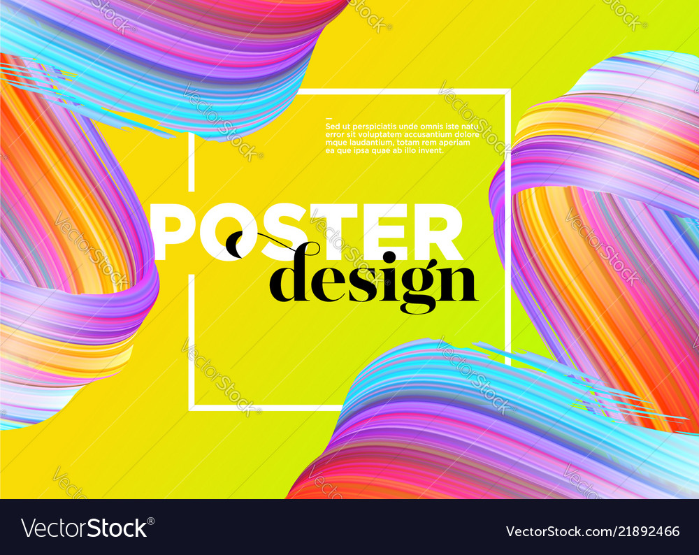 Abstract minimal poster design background
