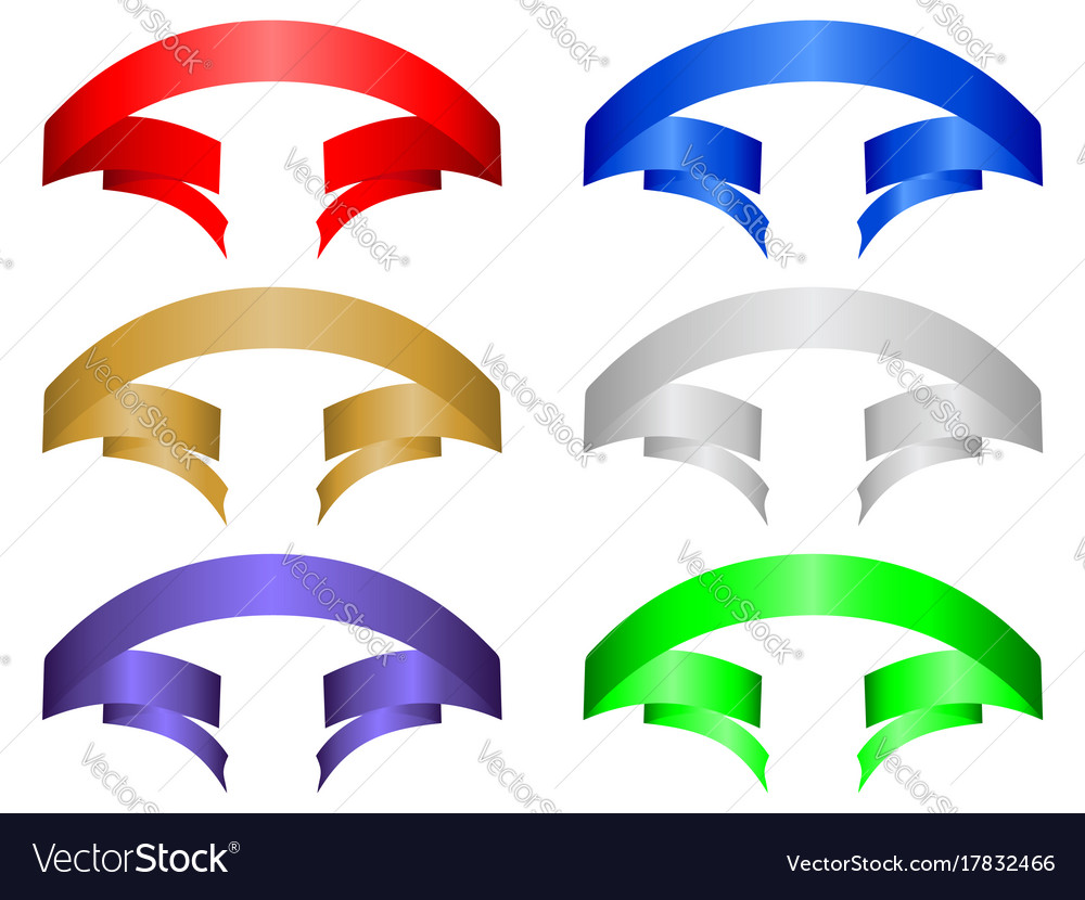 Color banner set vector image