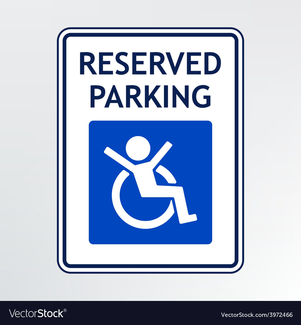 - Disabled Parking Sign Royalty Free Vector Image