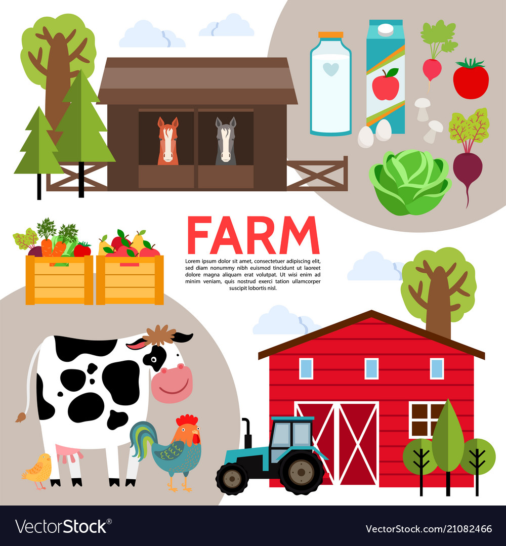 Flat farming elements composition
