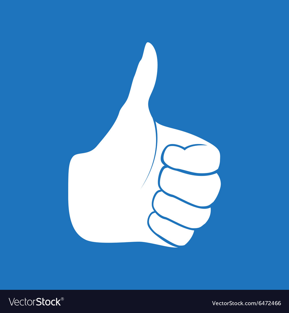 Hand Drawn Thumbs up isolated on white background
