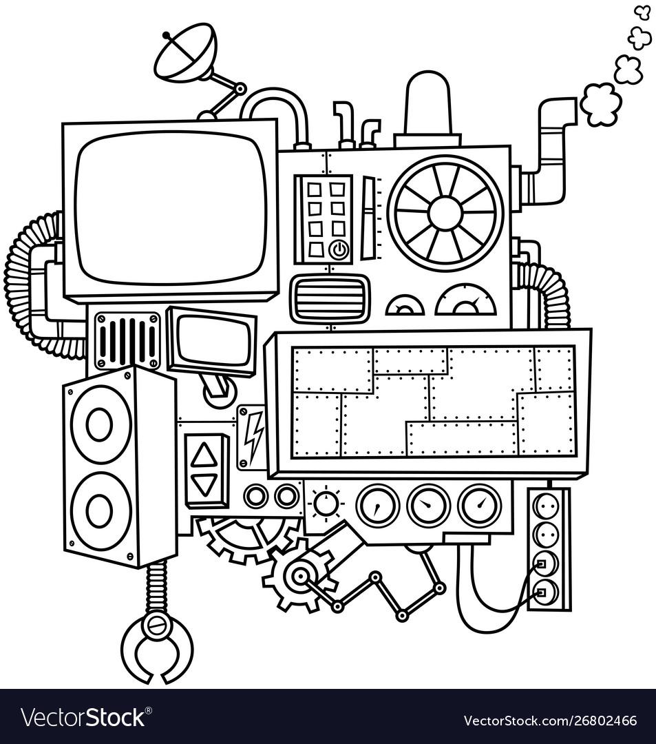 Machine line art