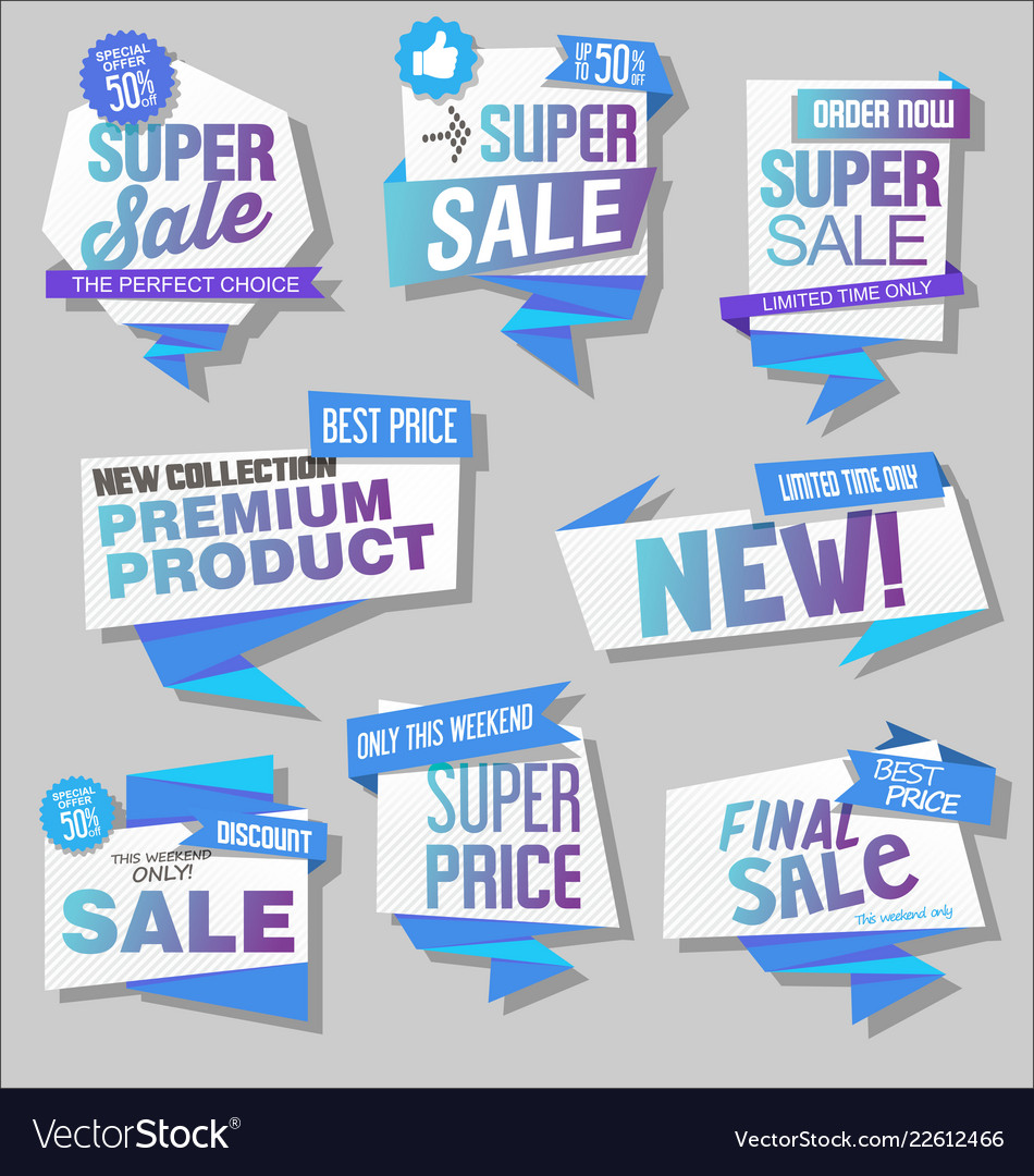 Modern labels badges and tags 5