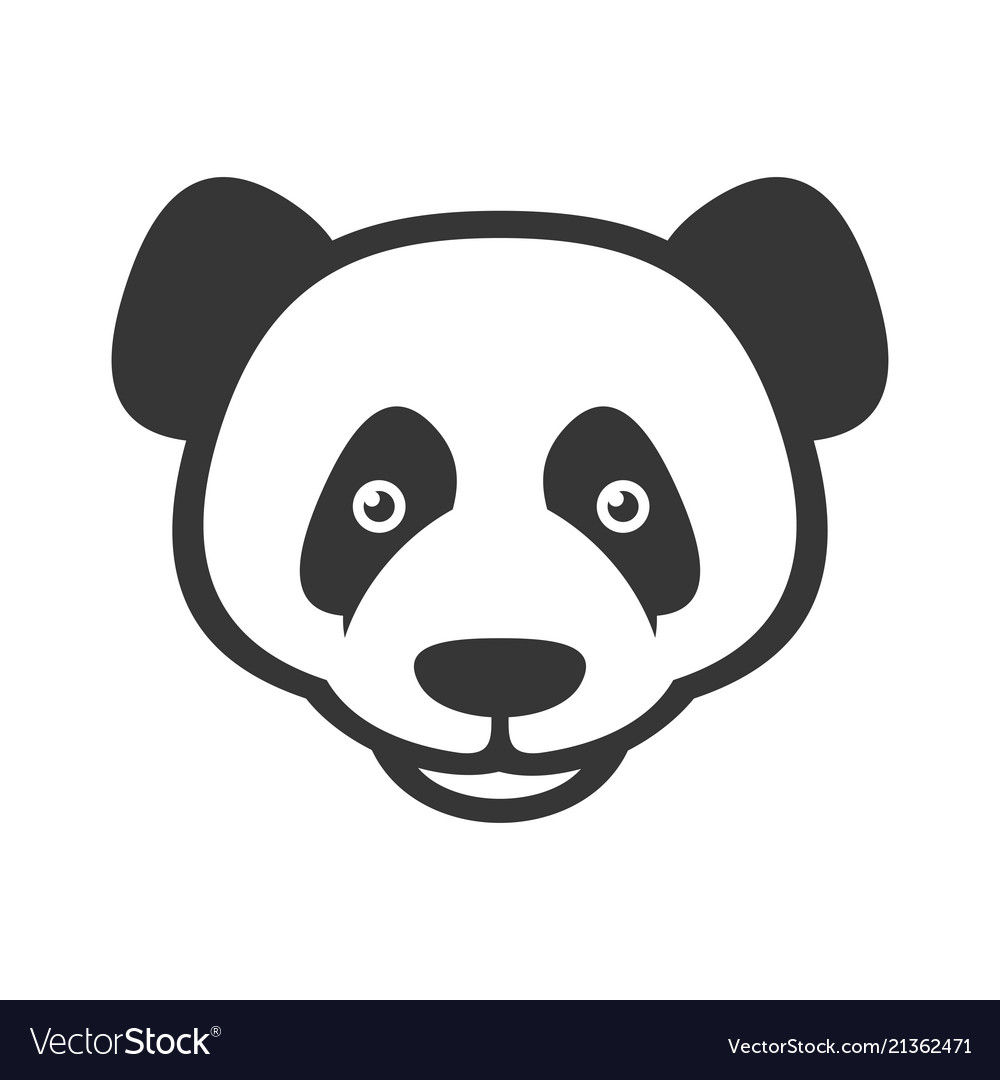 Panda logo sign on white background