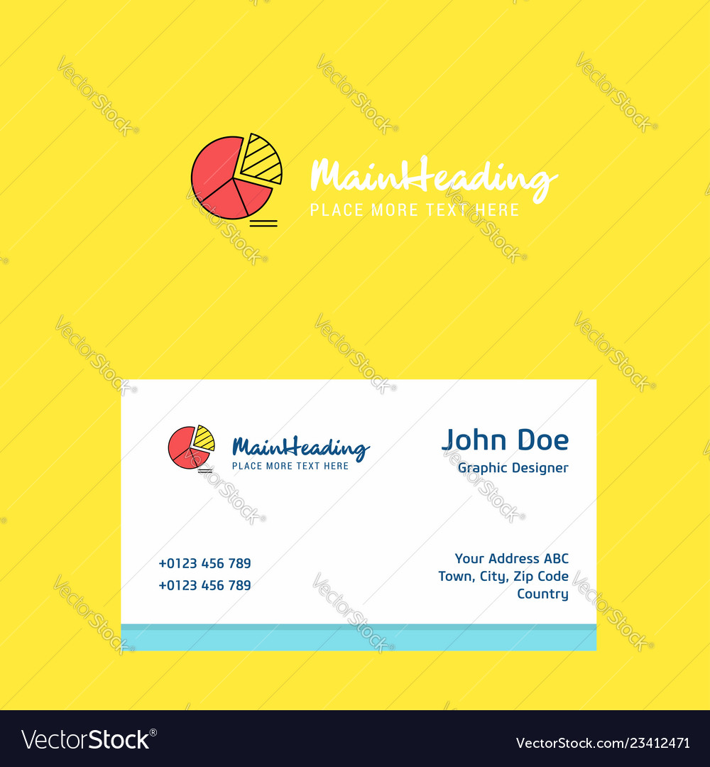 Pie chart logo design with business card template