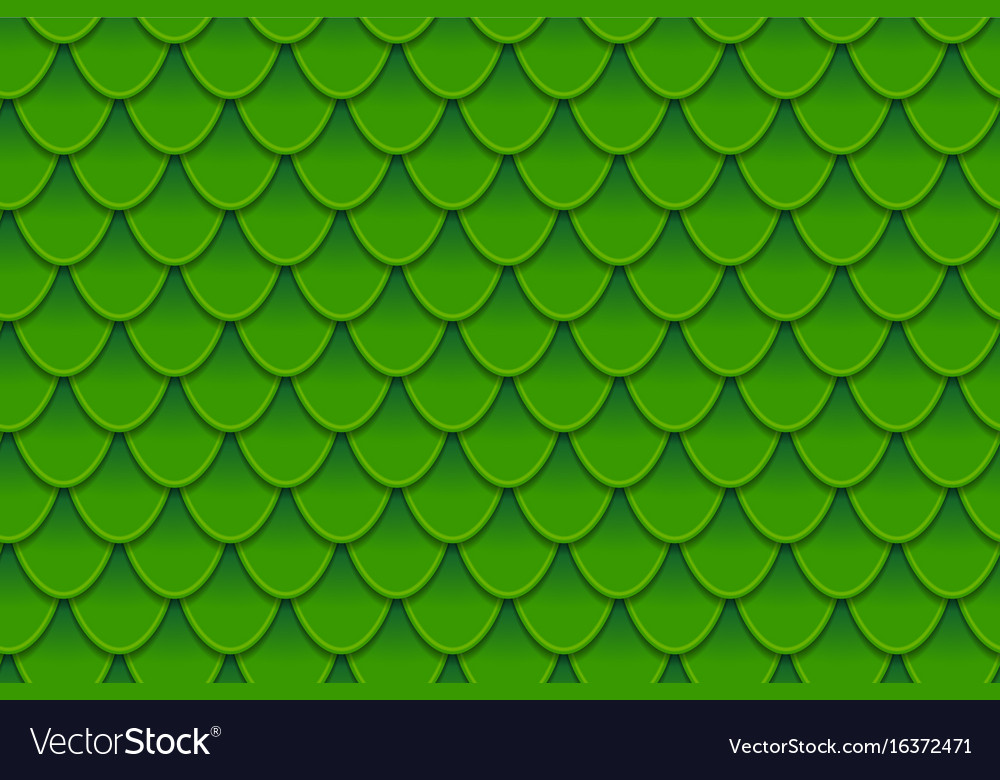 Seamless pattern of colorful green fish scales vector image