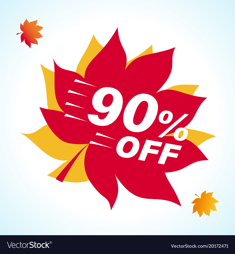 Set bright banner for autumn sale discount offer
