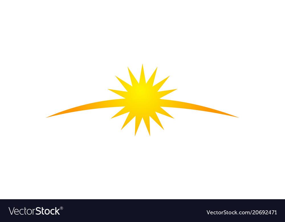 Sun shine vector image