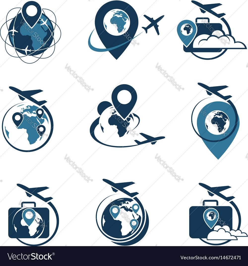 Travel logo set