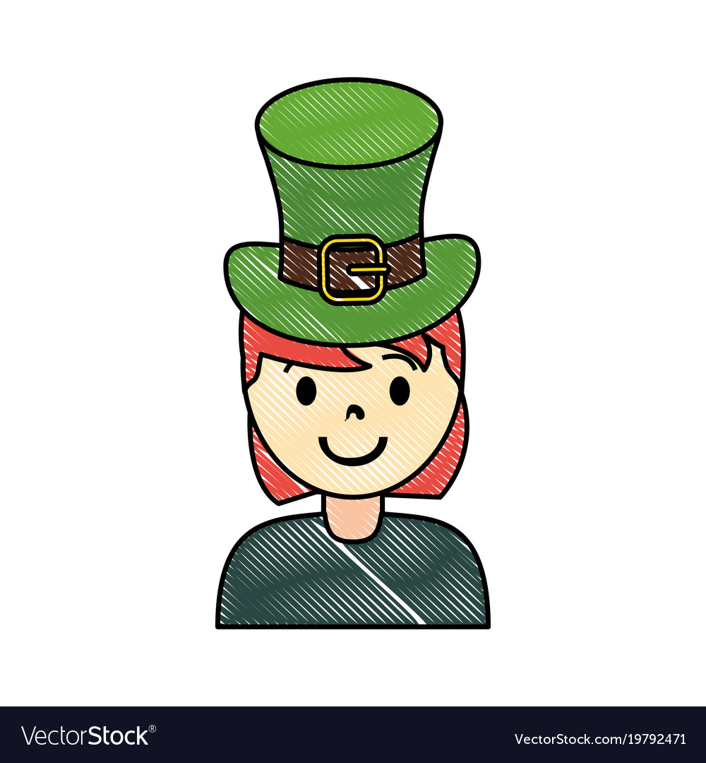 Woman wearing leprechaun hat