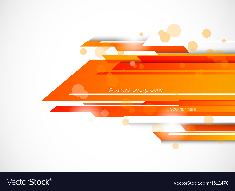 Abstract Tech Background In Orange Color