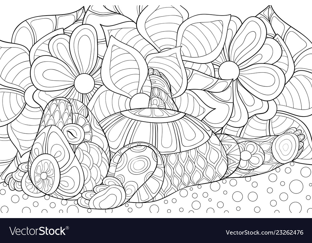 Adult coloring bookpage a cute bear image
