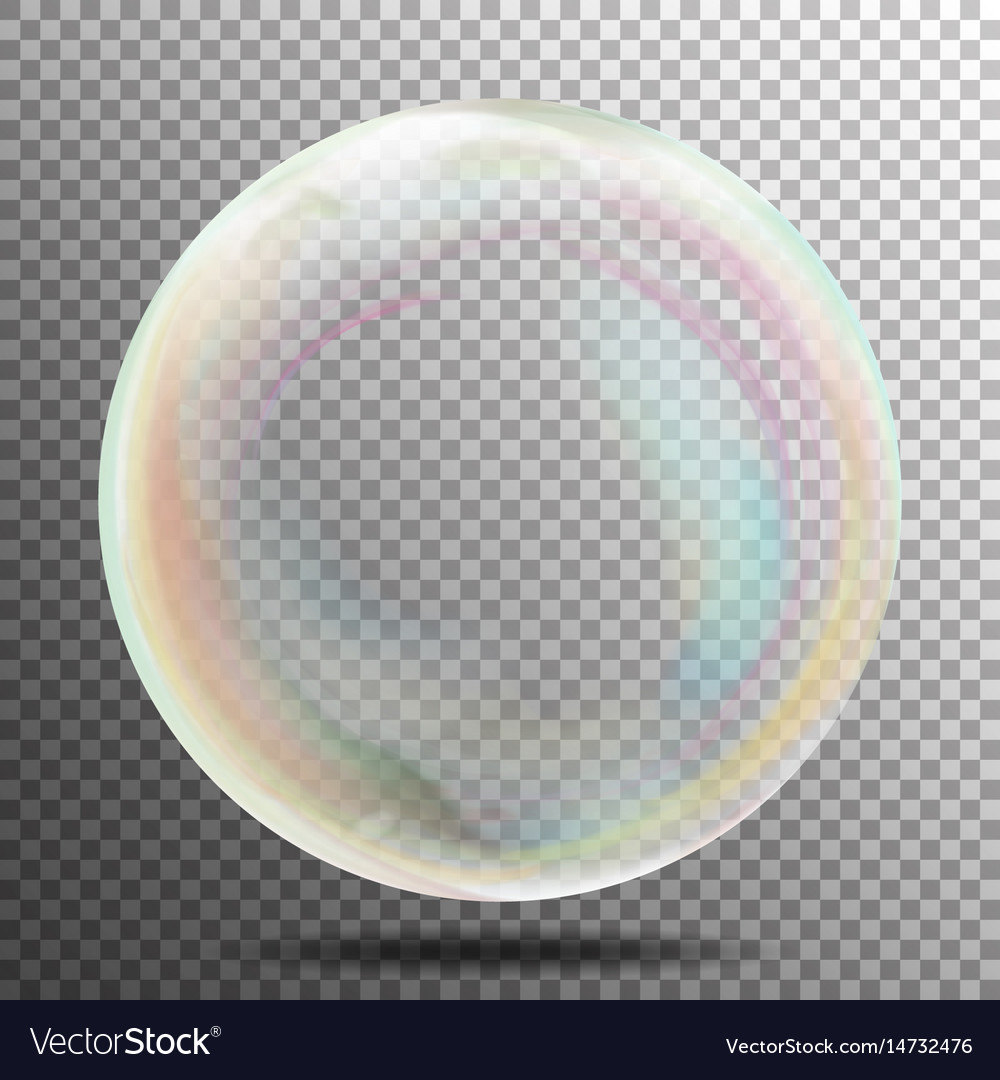 Air bubble glow white transparent bubble with