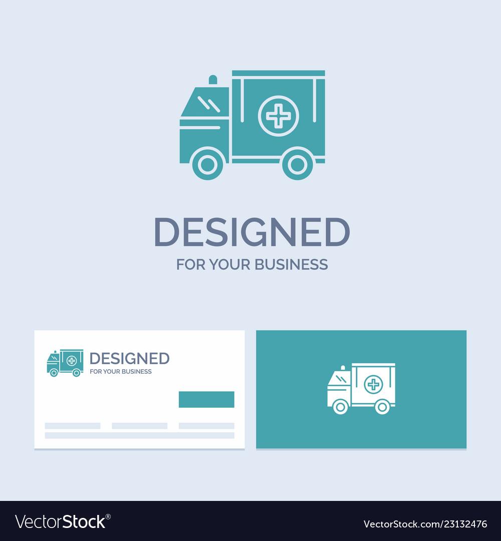 Ambulance truck medical help van business logo