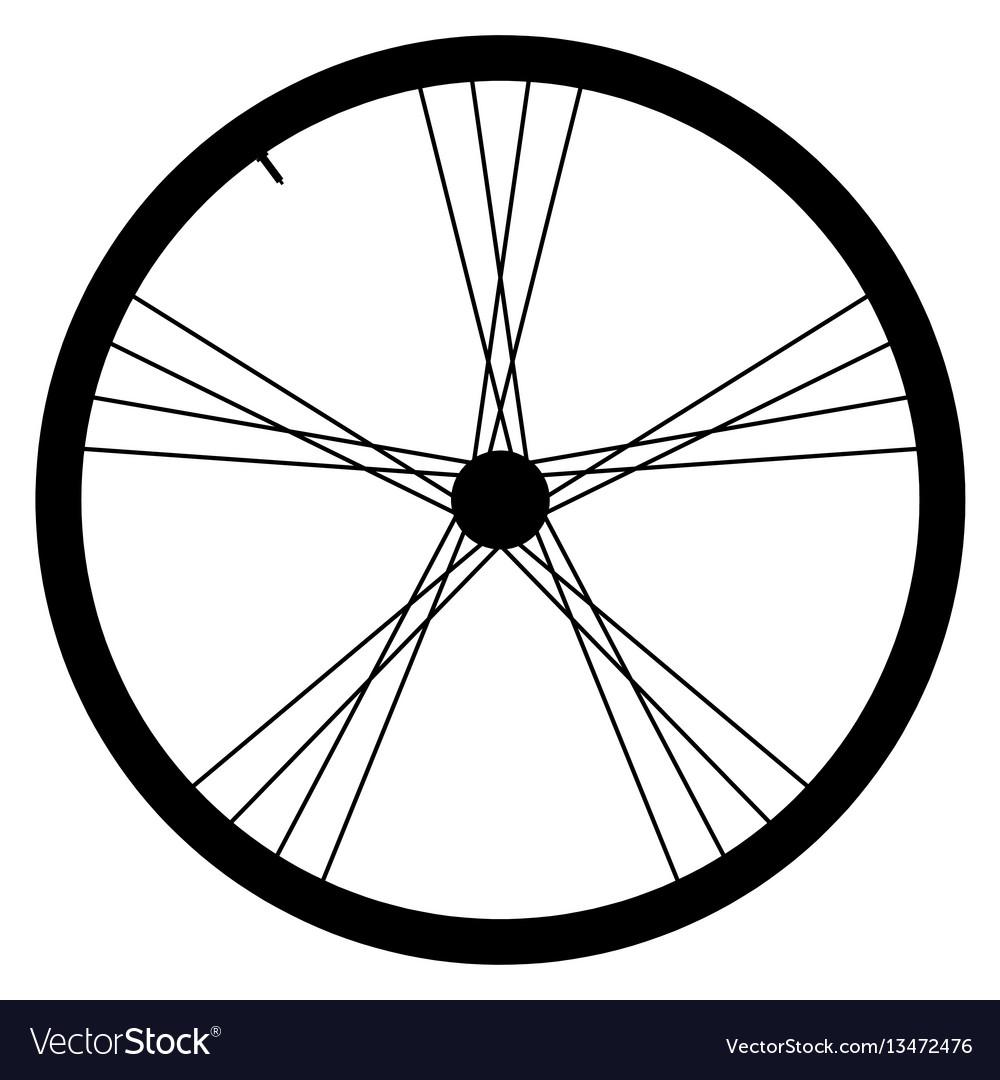 Bike wheel - on white backgrou