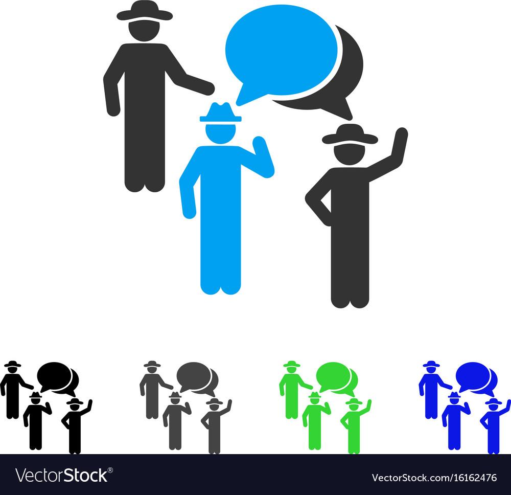 Gentlemen discussion flat icon
