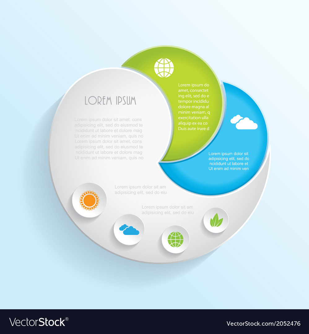 Modern ecology infographic template design