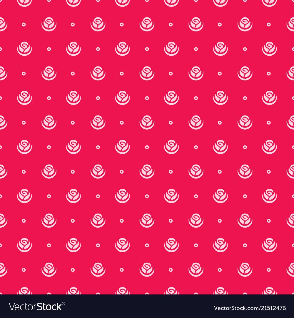 Rose flower seamless pattern