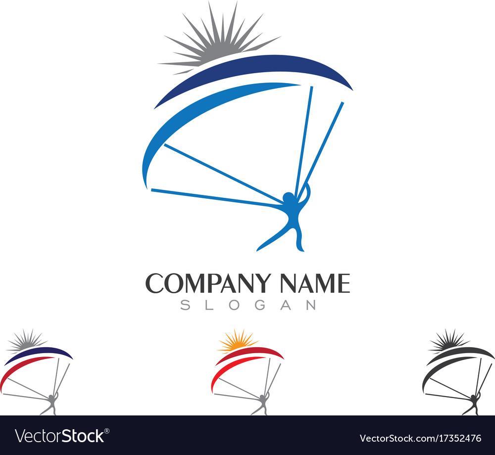 Sky diving logo template