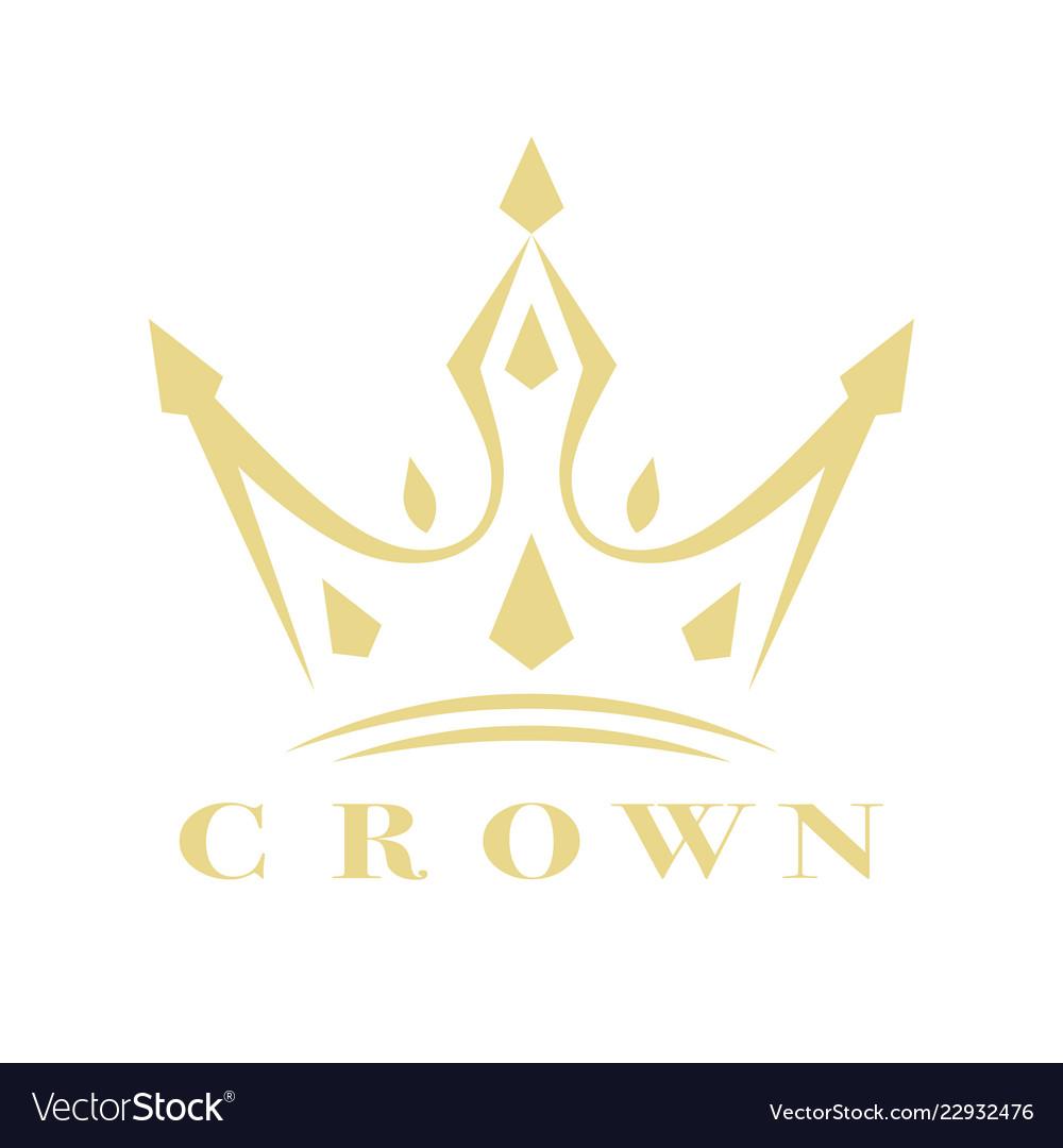 Vintage crown logo royal king queen abstract logo