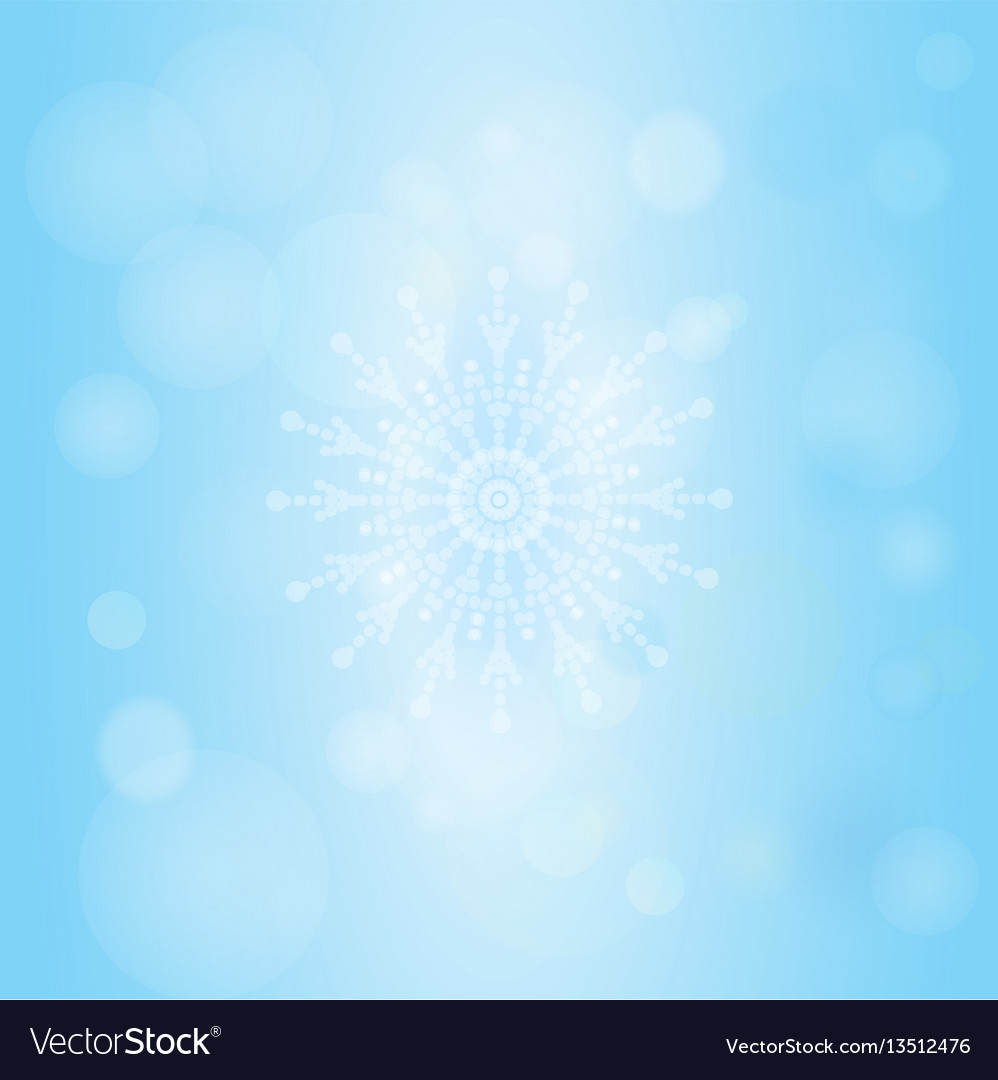Winter bokeh abstract light background with