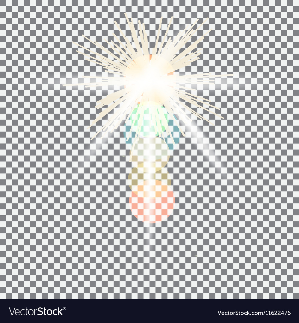 Yellow warm light effect sun rays beams on