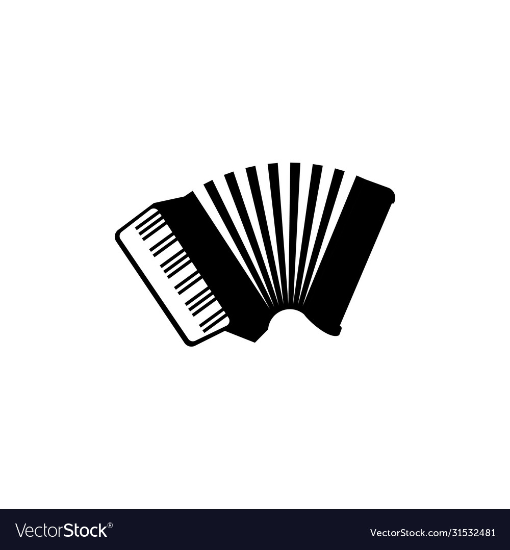 Accordion graphic design template isolated