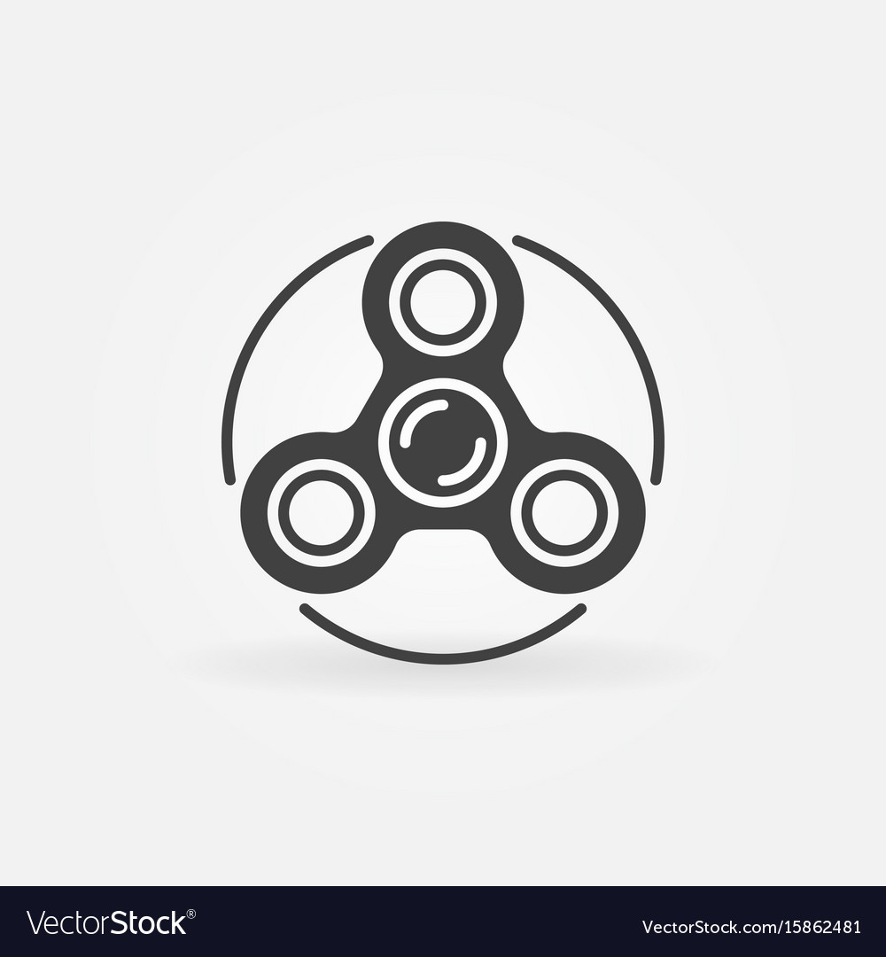Fidget spinner minimal icon vector image