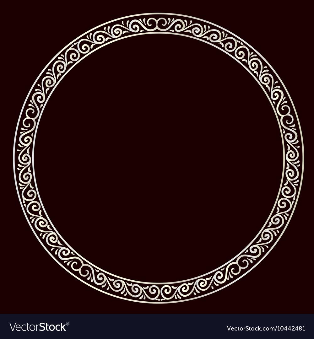 Round silver frame