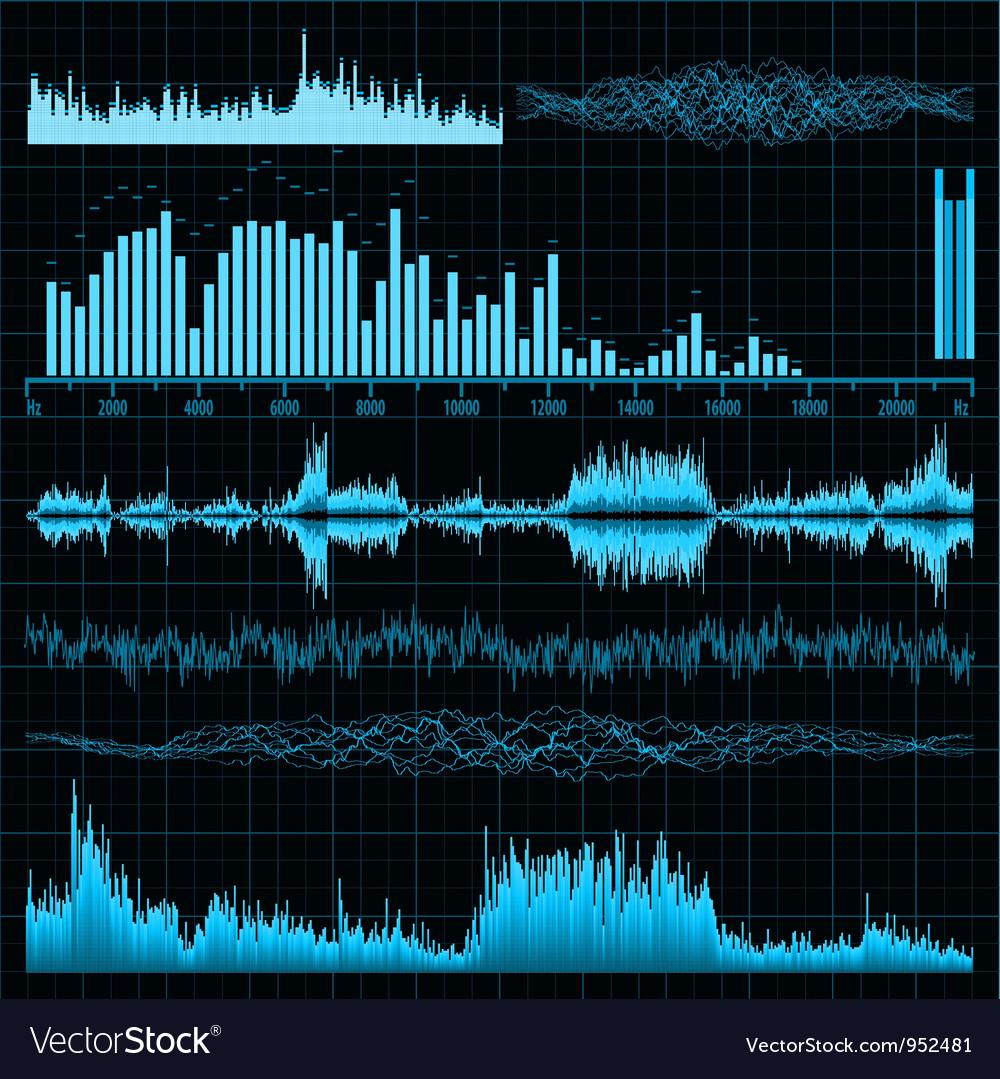 Sound diagrams Royalty Free Vector Image - VectorStock
