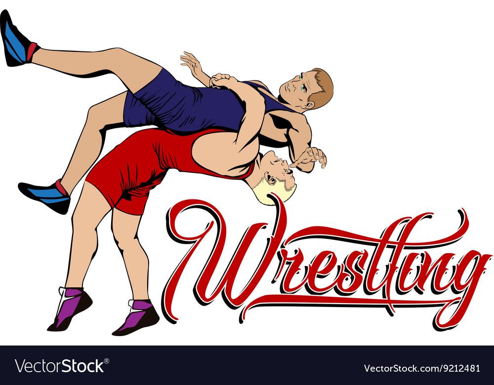 Summer kinds of sports Wrestling vector image