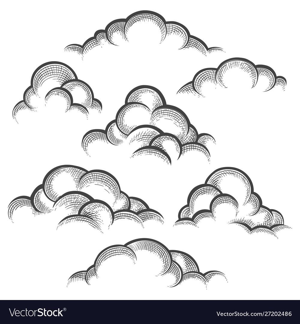 Clouds engraving set